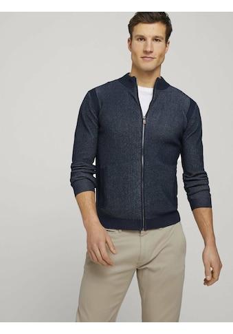 TOM TAILOR Cardigan »Strickjacke mit Bio-Baumwolle und Stehkragen« kaufen