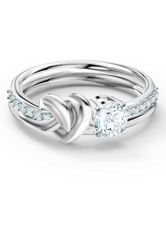 Swarovski Fingerring »Lifelong Heart, weiss, rhodiniert, 5535399, 5535411, 5517930, 5535409, 5535402« kaufen