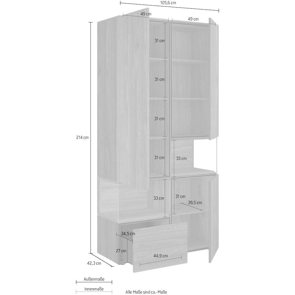 hülsta Vitrine »NEO Vitrine«, mit zwei offenen Glasfächern, inklusive Liefer- und Montageservice durch hülsta Monteure