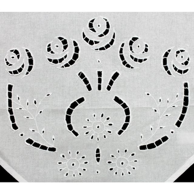 Scheibengardine, »Ortler«, HOSSNER - ART OF HOME DECO, Schlaufen 1 Stück