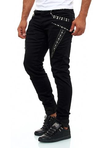 KINGZ Slim-fit-Jeans, mit feinen Akzenten kaufen