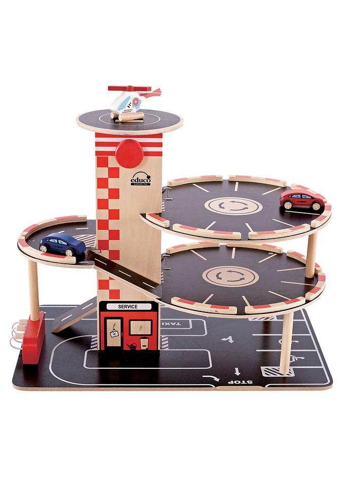 Hape Spiel-Parkhaus, aus Holz bunt Kinder Ab 3-5 Jahren Altersempfehlung Spiel-Parkhaus