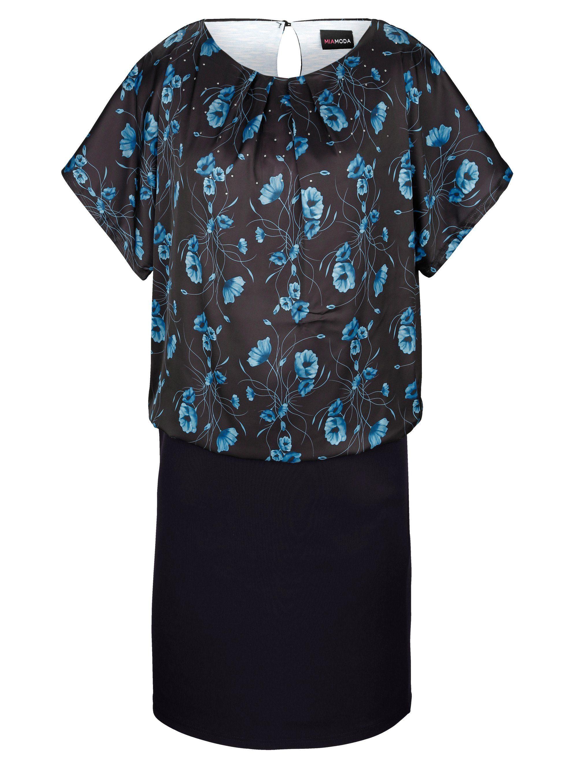 MIAMODA Kleid mit Blumendruck und Doppeloptik