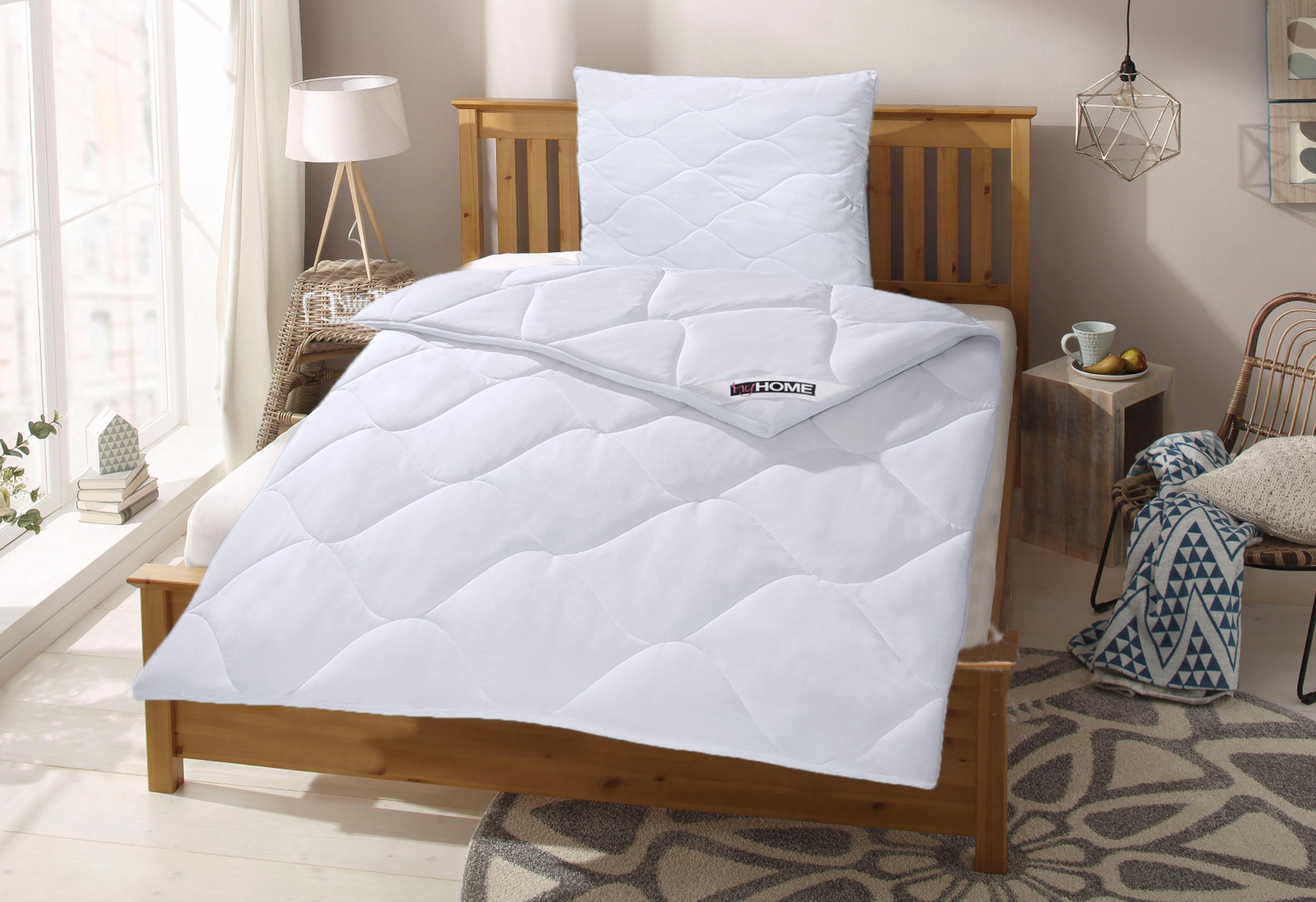 Bettdecke + Kopfkissen Schlafkomfort mit Cotton Made in Africa my home warm (Set)