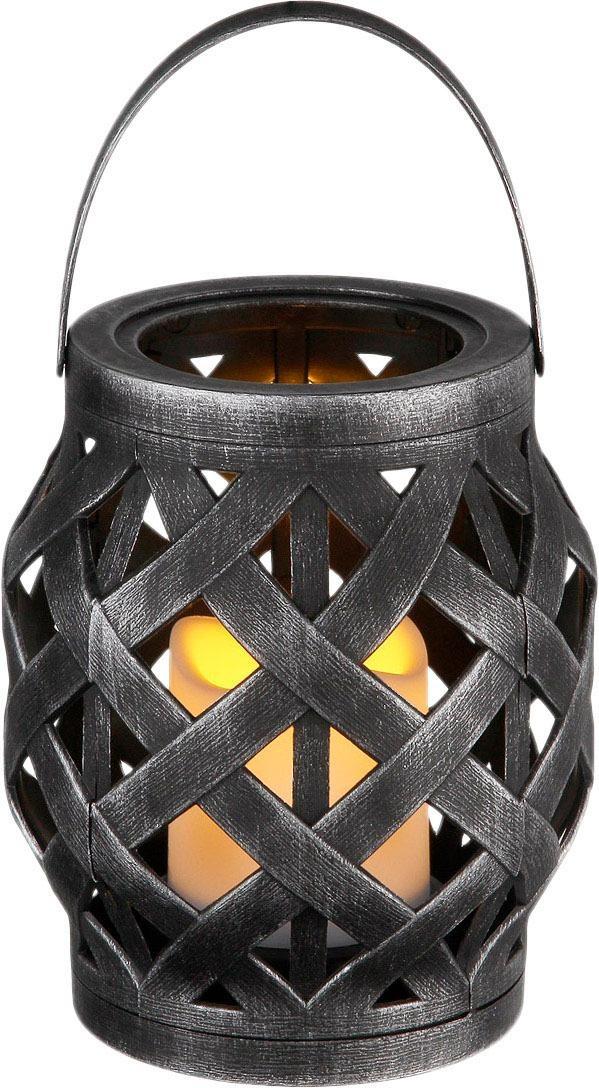 Home affaire Windlicht, inkl. LED Kerze schwarz Kerzenhalter Kerzen Laternen Wohnaccessoires Windlicht