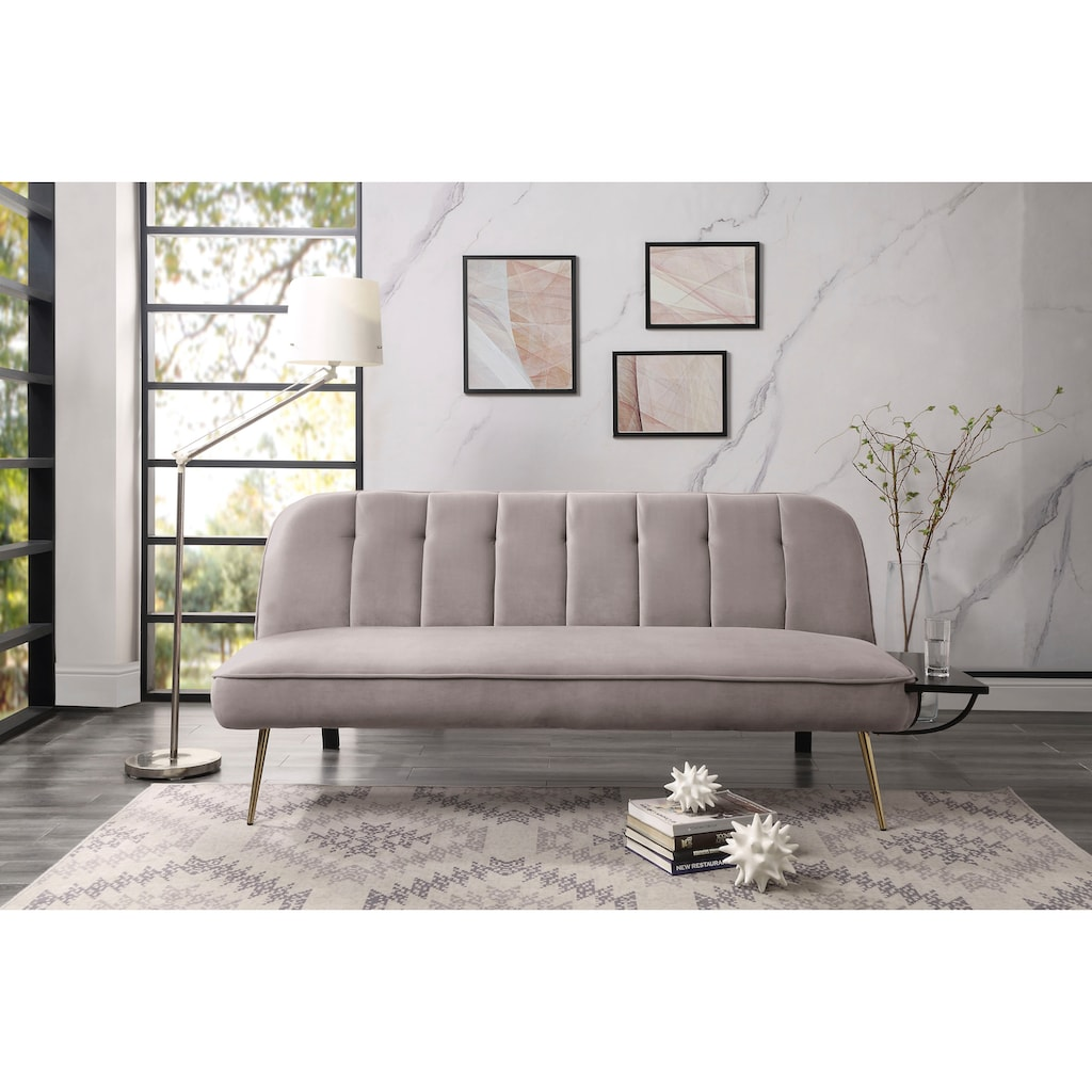 ATLANTIC home collection Schlafsofa, inklusive Abstelltisch