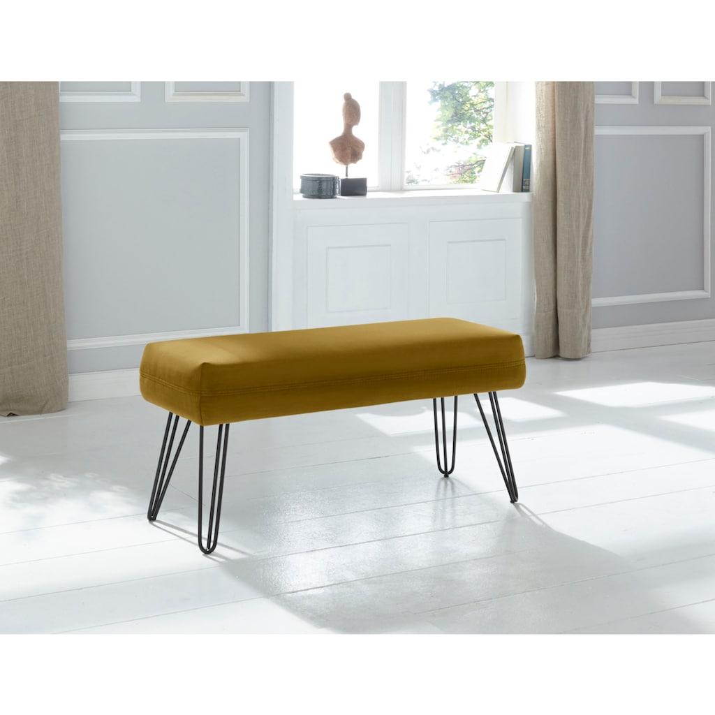exxpo - sofa fashion Sitzbank »Doppio«, Frei im Raum stellbar
