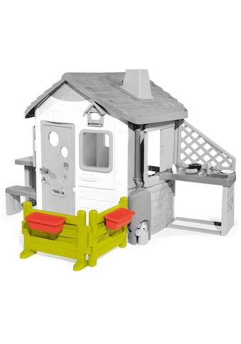Smoby Spielhaus »Zubehör Gartenzaun mit Blumenkästen«, Made in Europe kaufen