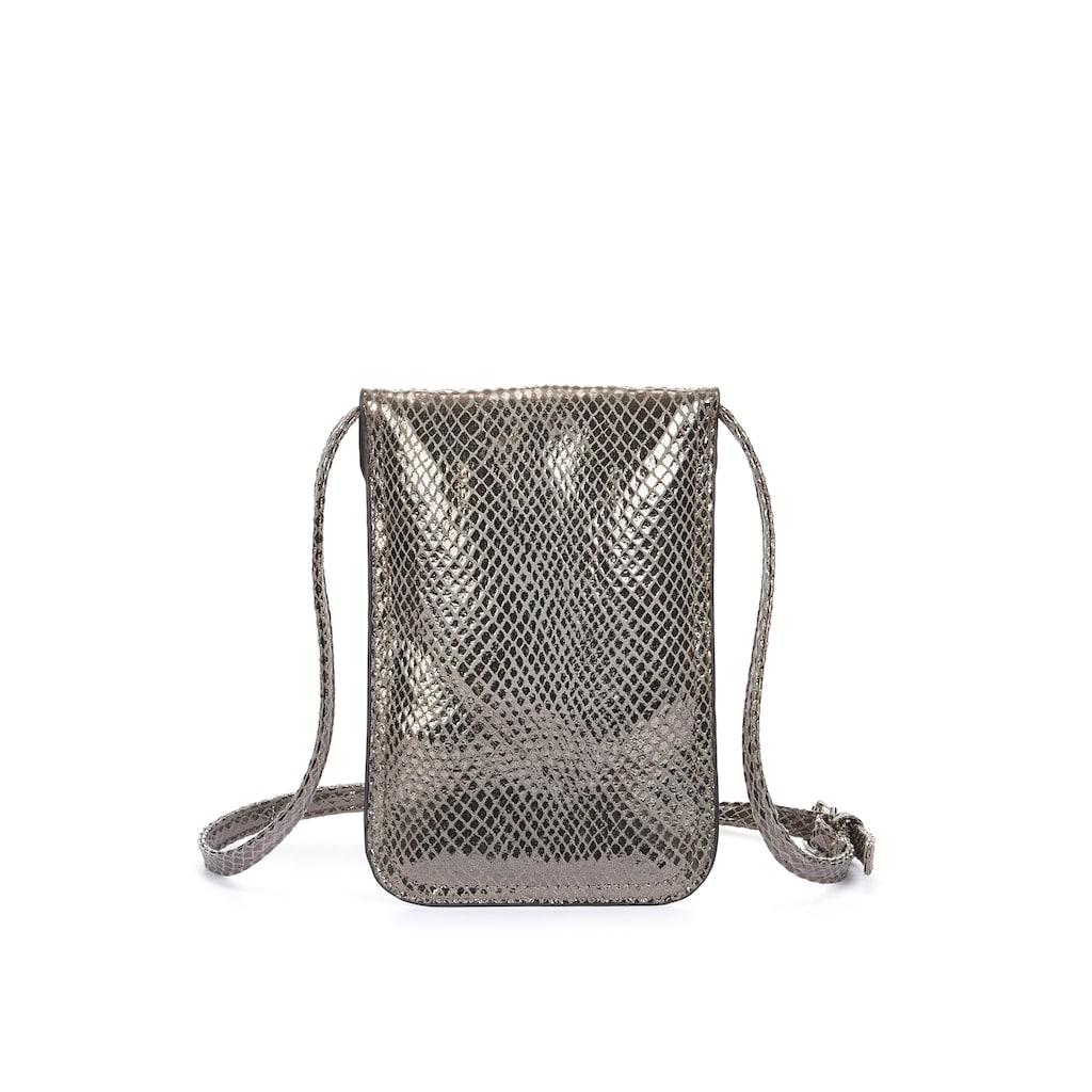 LASCANA Umhängetasche, Minibag, Handytasche zum Umhängen im coolen Metallic Look