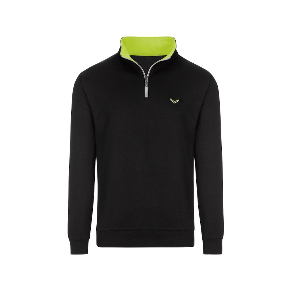 Trigema Sweatshirt, mit Kragen und Reißverschluss