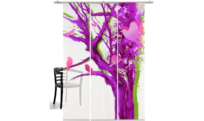 emotion textiles Schiebegardine »Baum der Vögel«, HxB: 260x60, mit Befestigungszubehör kaufen