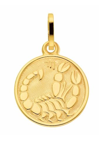 Adelia´s Kettenanhänger »333 Gold Sternzeichen Anhänger Skorpion Ø 11,8 mm« kaufen
