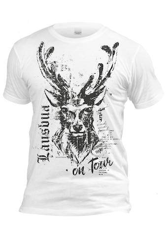 Der Trachtler Trachten mit großem Hirschprint »T - Shirt Lausbua on Tour« kaufen