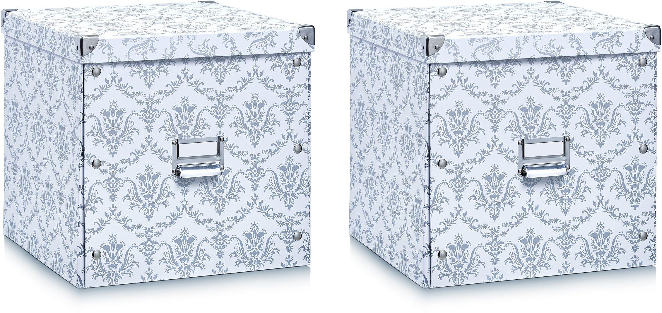 Zeller Present Aufbewahrungsbox, (2er Set) weiß Kleideraufbewahrung Aufbewahrung Ordnung Wohnaccessoires Aufbewahrungsbox