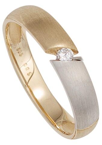JOBO Solitärring, 585 Gold bicolor mit Diamant 0,05 ct. kaufen