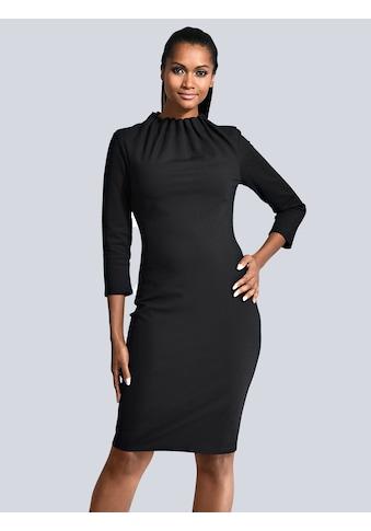 Alba Moda Kleid mit gerafftem Stehkragen kaufen