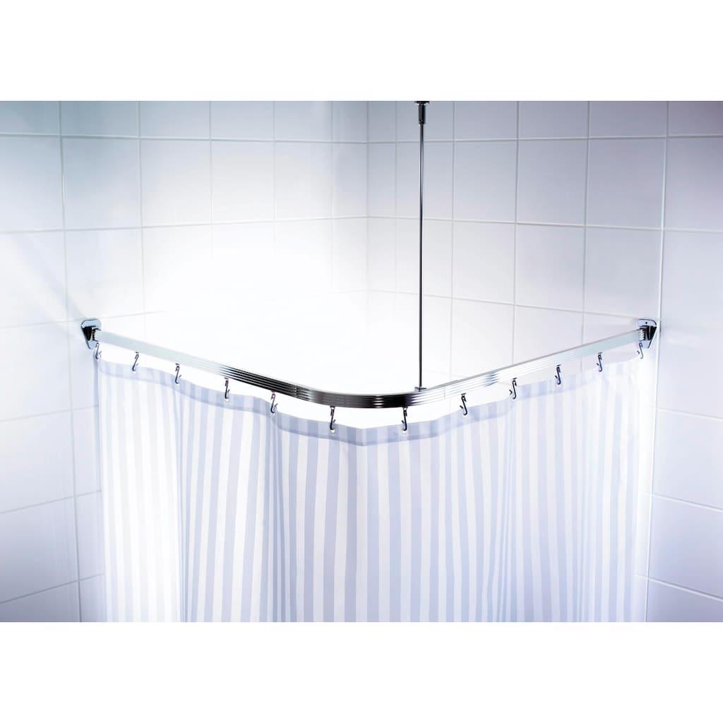 Ridder Vorhangschiene »Comfort«, kürzbar, Eckstange für Duschvorhänge