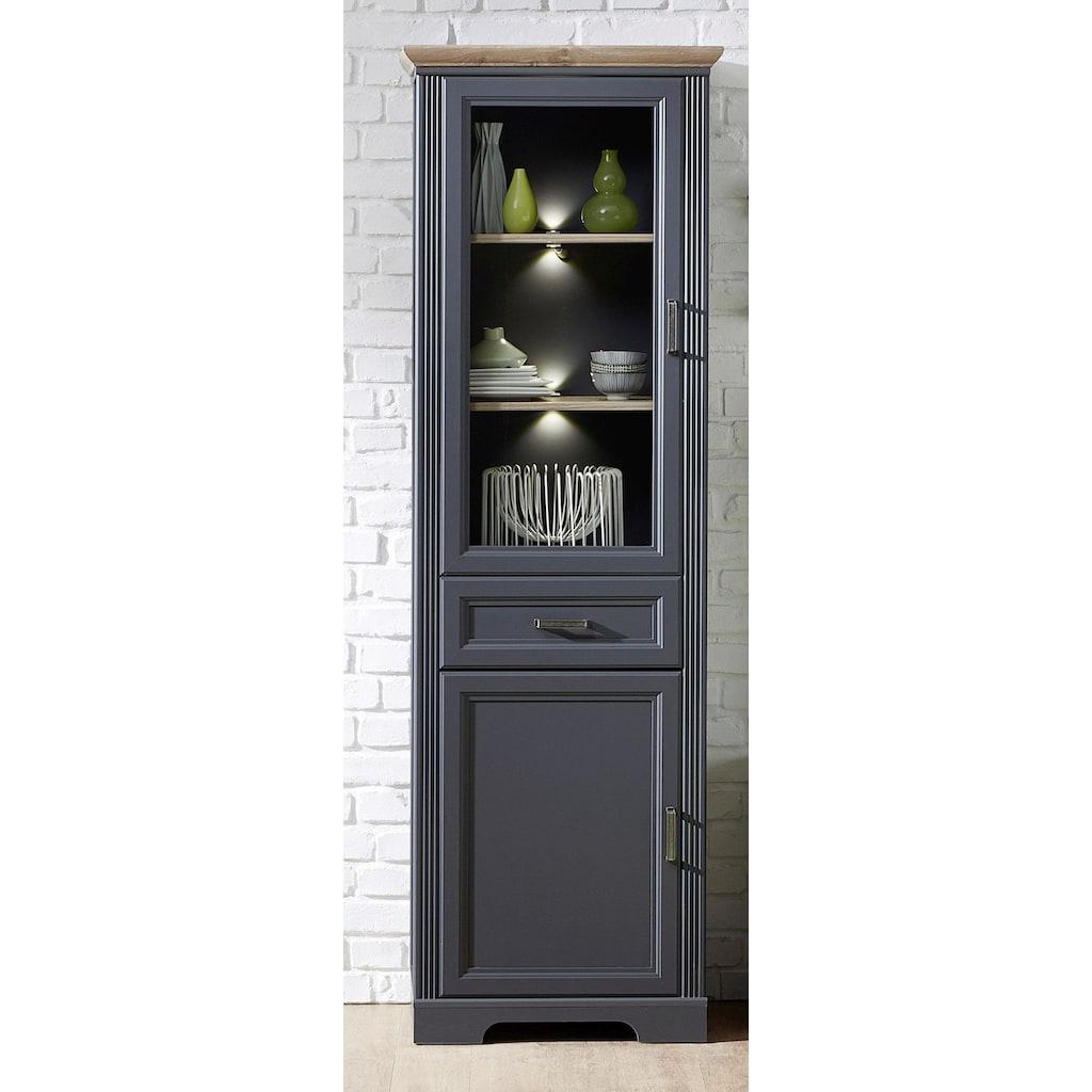 Innostyle Stauraumvitrine »Jasmin«, inklusive Beleuchtung, Türen links/rechts verwendbar