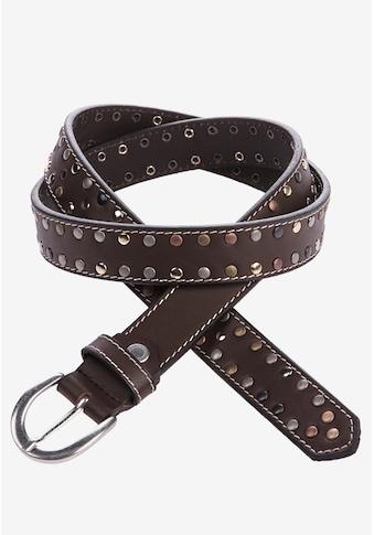 Cipo & Baxx Ledergürtel, mit schönen Nieten kaufen