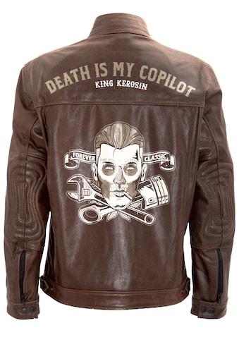KingKerosin Lederjacke »Death is my Copilot« kaufen