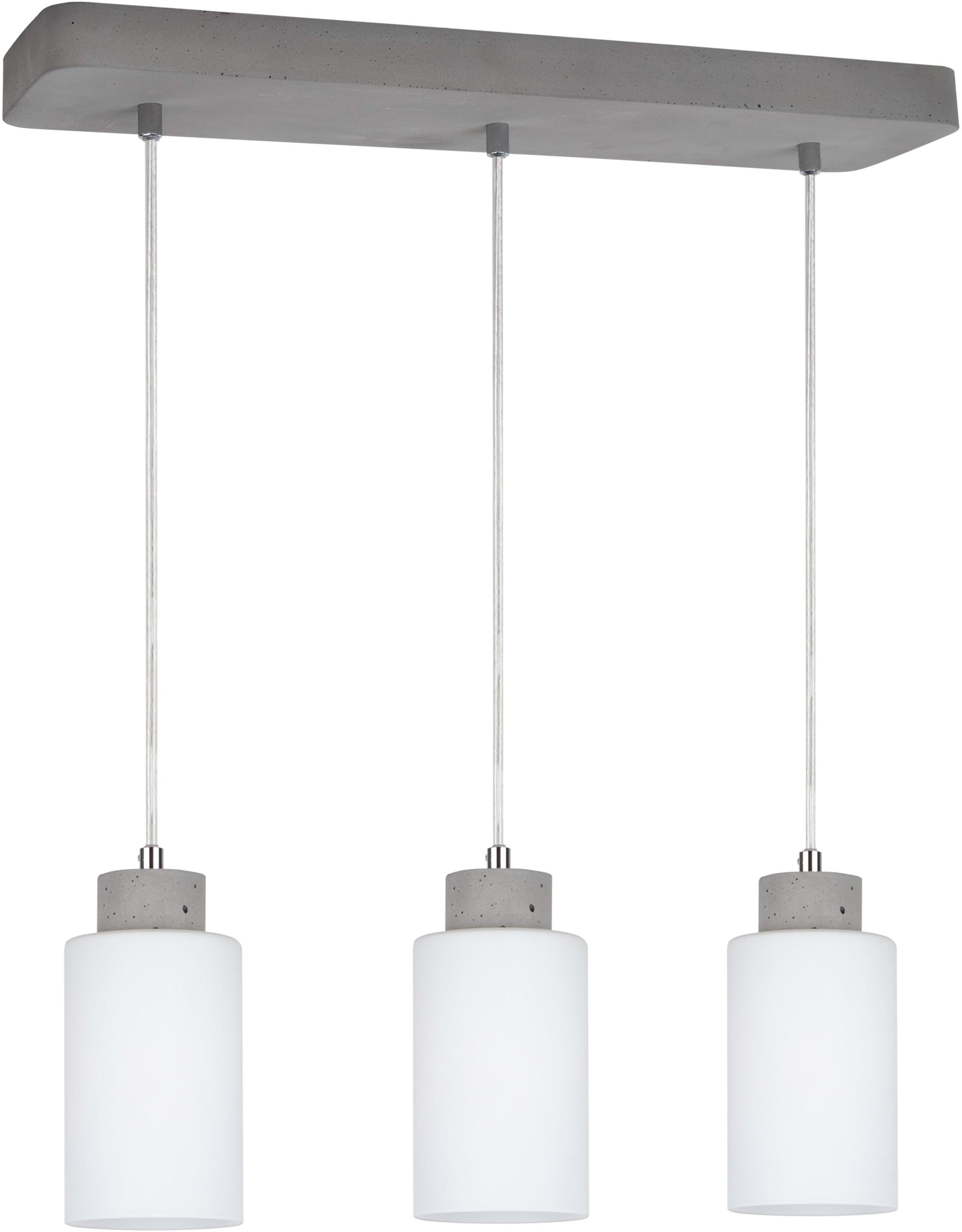 SPOT Light Pendelleuchte KARLA, E27, 1 St., Hängeleuchte, Lampenschirm aus hochwertigen Glas, Betonelemente handgefertigt, Naturprodukt - nachhaltig, Made in Europe