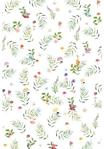 fleuresse Plaid »4136«, Florale Streifzüge kaufen