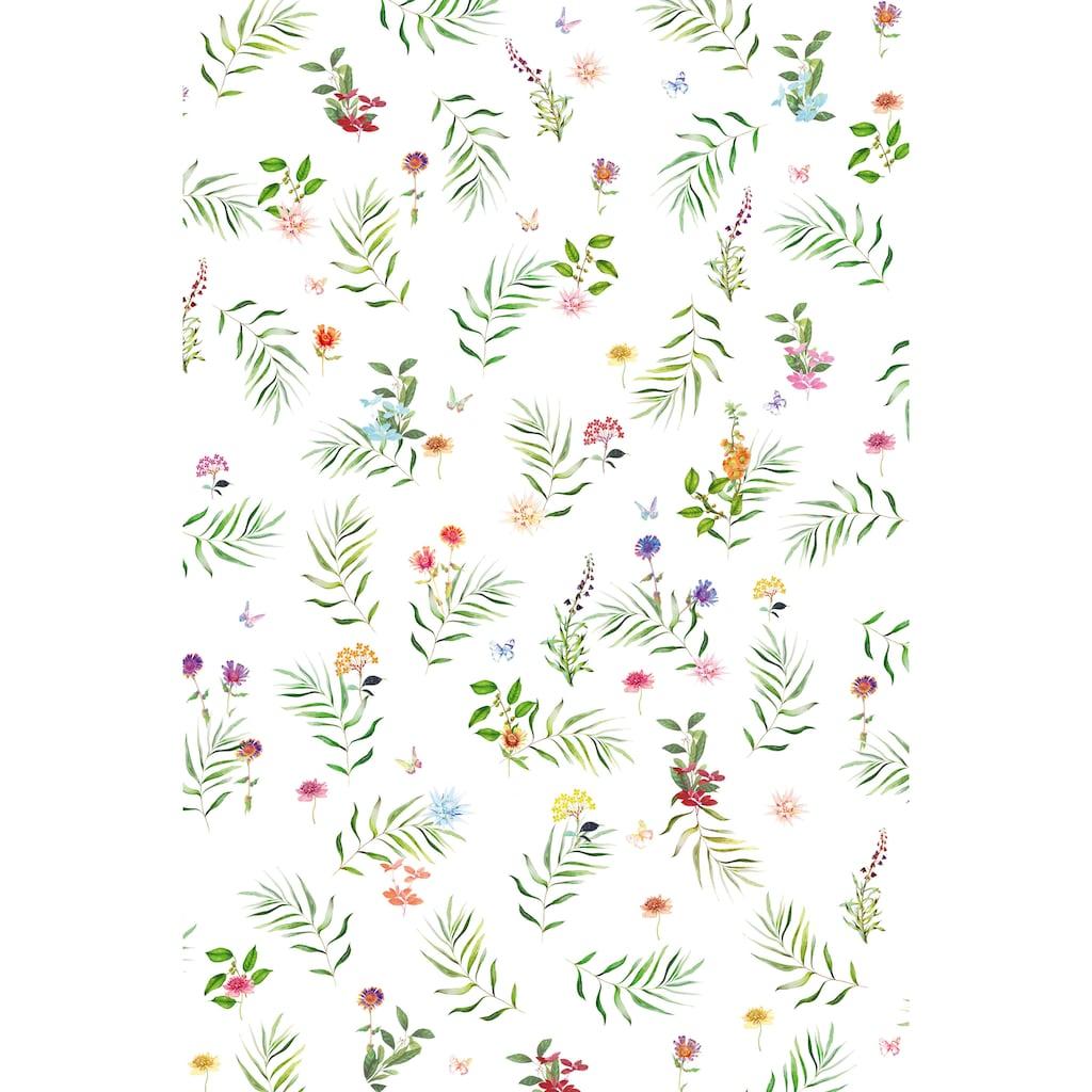 fleuresse Plaid »4136«, Florale Streifzüge