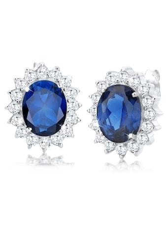 Elli Paar Ohrstecker »Saphirblau Zirkonia Royal Glamour 925 Silber« kaufen