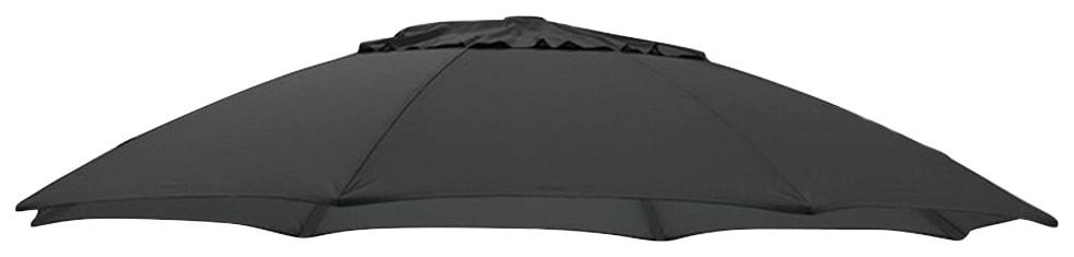 sungarden Ersatzschirmbespannung, Ø 375 cm, rund schwarz Sonnenschirme -segel Gartenmöbel Gartendeko Ersatzschirmbespannung