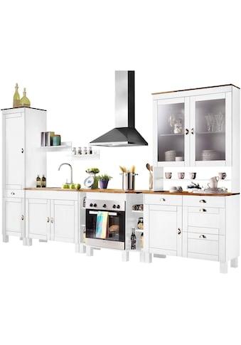 Home affaire Küchen-Set »Oslo«, (7 St.), ohne E-Geräte, Breite 350 cm, aus massiver... kaufen