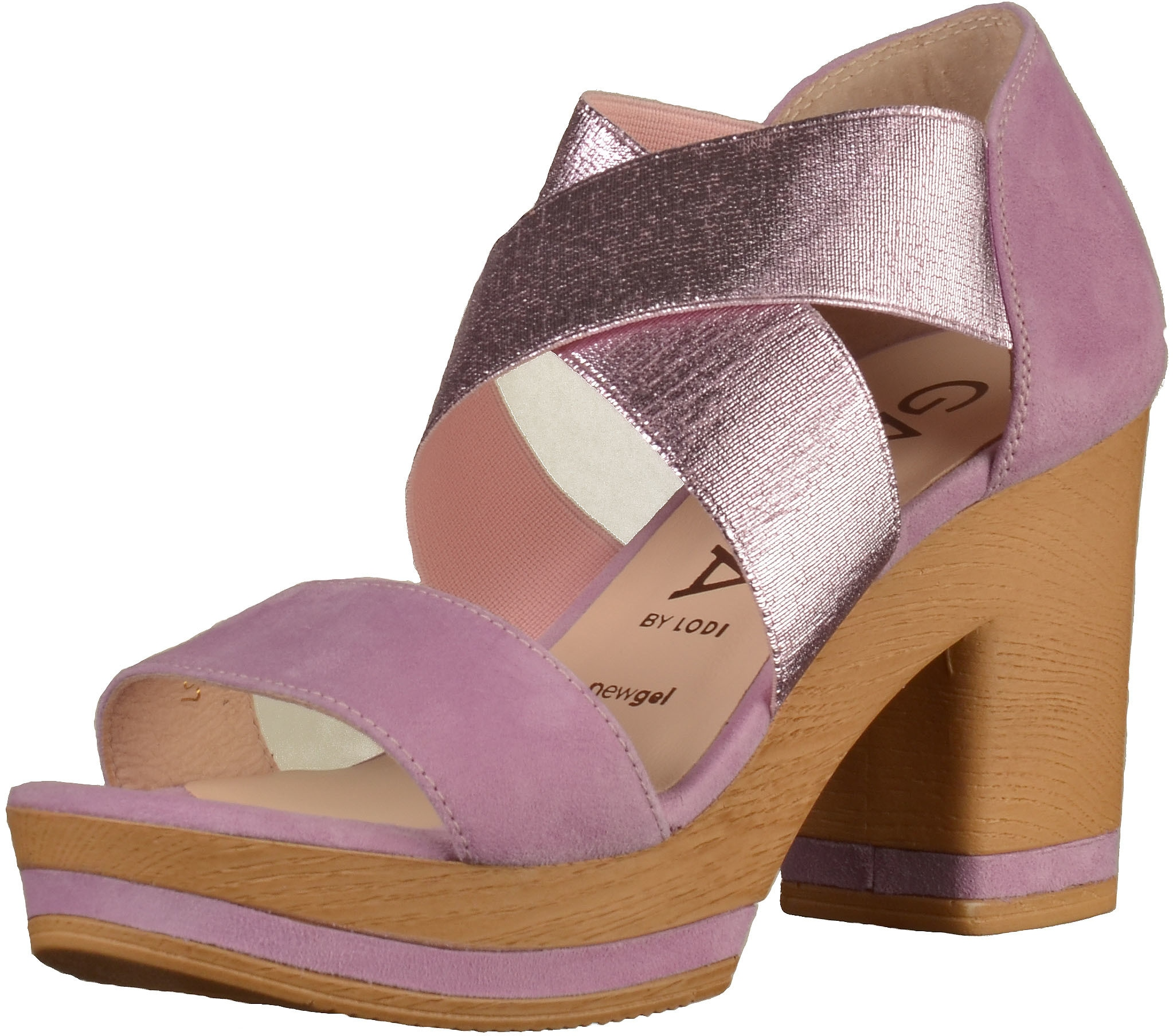 gadea -  High-Heel-Sandalette Leder/Textil
