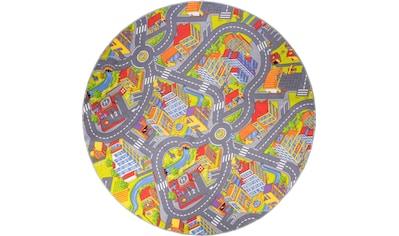 Kinderteppich, »Straße«, Andiamo, rund, Höhe 5 mm, maschinell getuftet kaufen