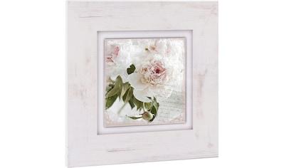 Home affaire Holzbild »Rosa Blume« kaufen