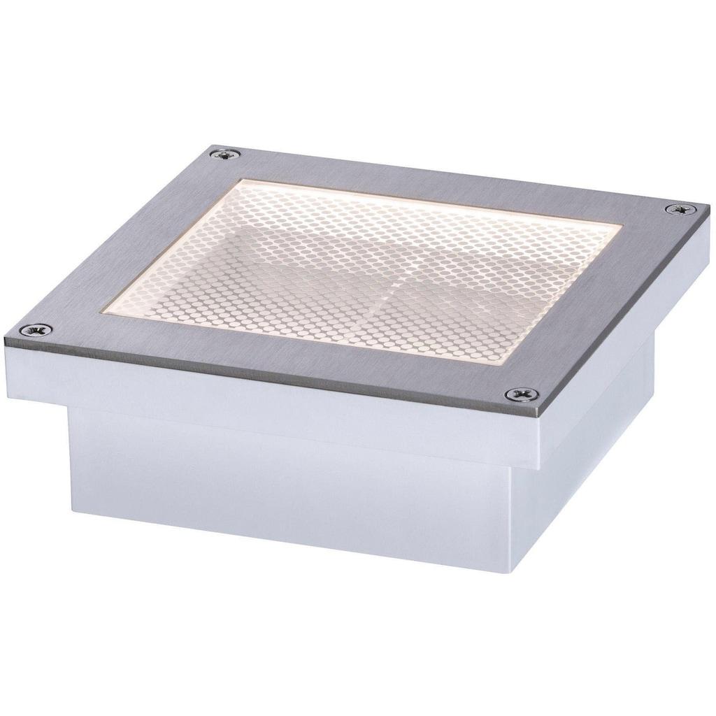 Paulmann LED Einbauleuchte »LED Bodeneinbauleuchte Garten/Wege/Beetbeleuchtung Aron 10x10 cm«, Warmweiß