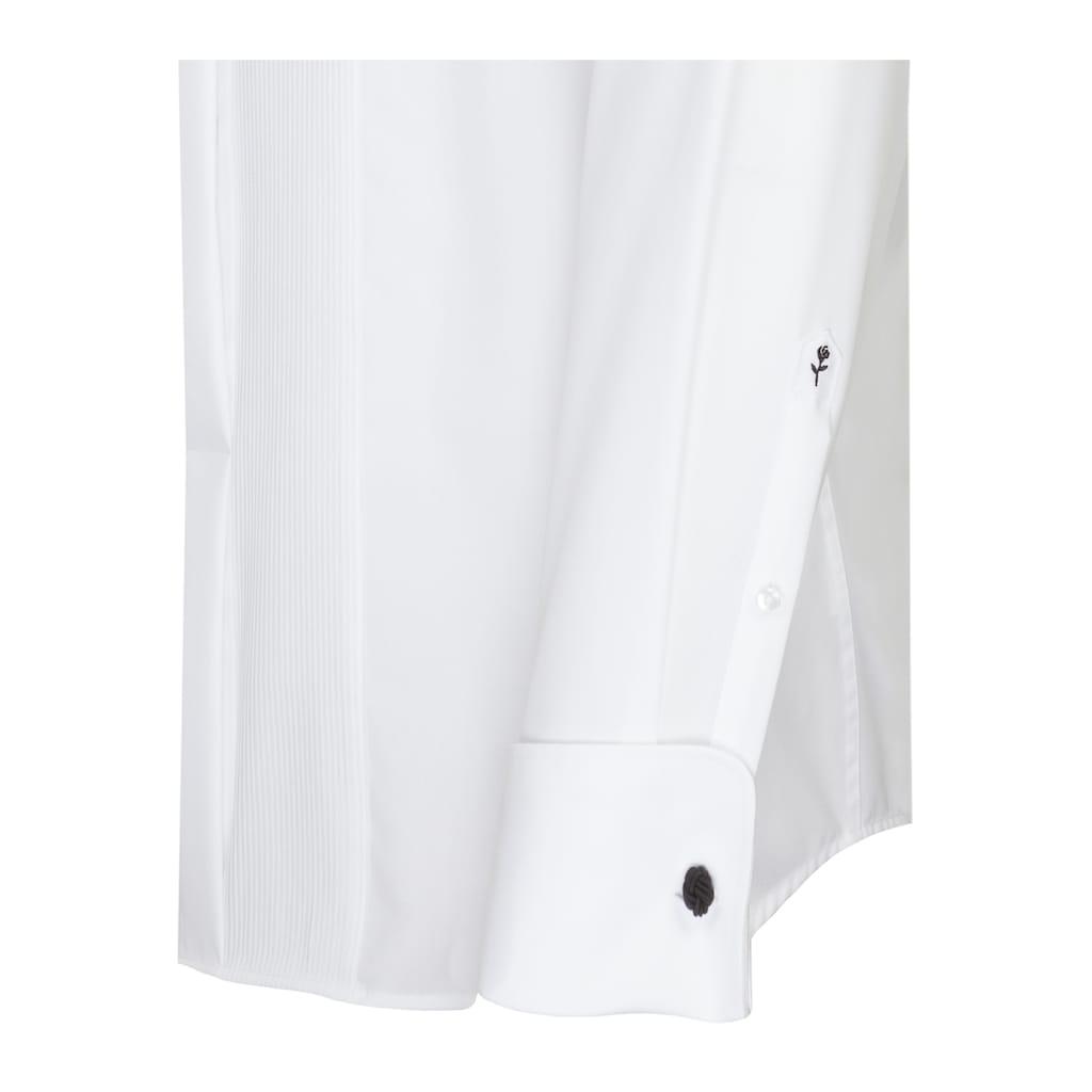 seidensticker Smokinghemd »Shaped«, Shaped Langarm Kläppchenkragen Uni