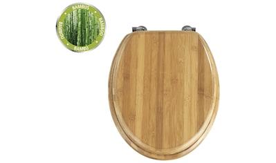 WENKO WC-Sitz »Bambus Dunkel« kaufen