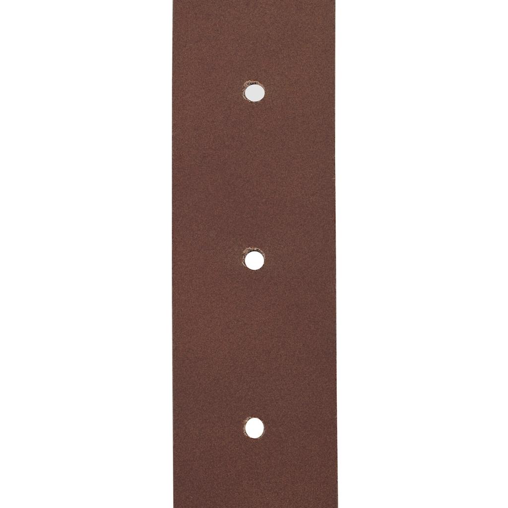 J.Jayz Ledergürtel, Glattleder matt, mit klassischer Dornschließe