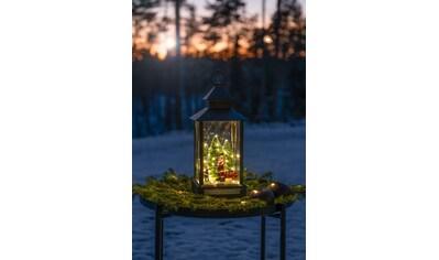 KONSTSMIDE Laterne, klein, Weihnachtsmann mit Kind und Weihnachtsbaum kaufen