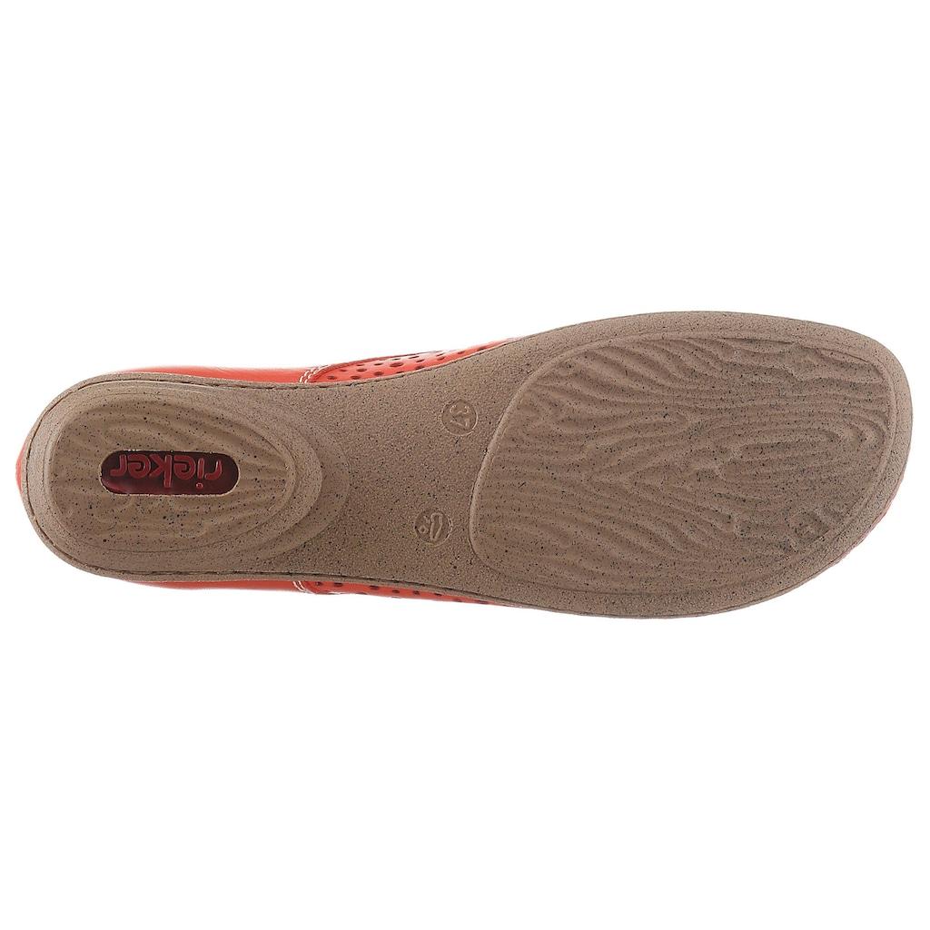 Rieker Slipper, mit modischer Perforation
