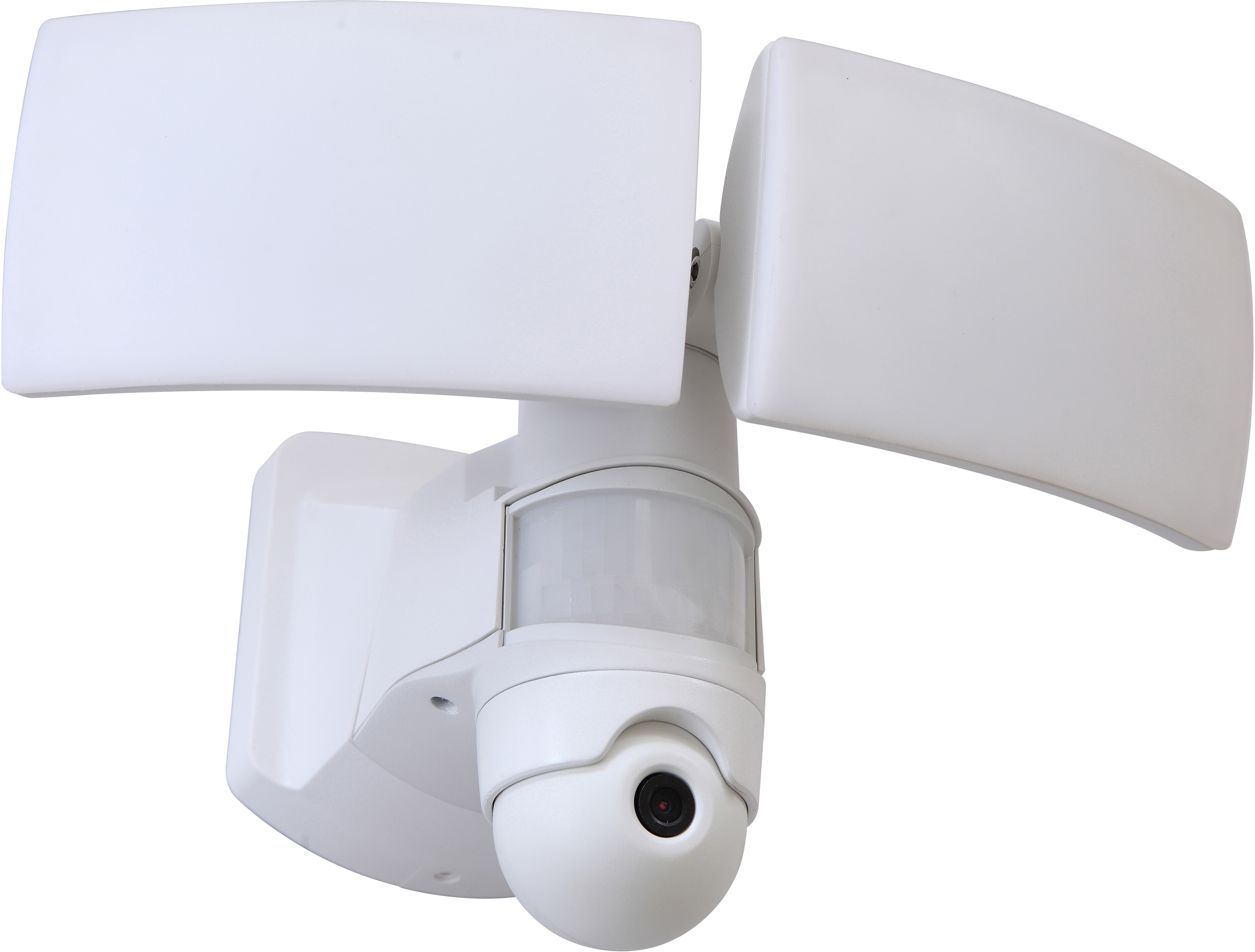 LUTEC LED Außen-Wandleuchte LIBRA HD 6324-CAM WH, LED-Modul, 1 St., Neutralweiß