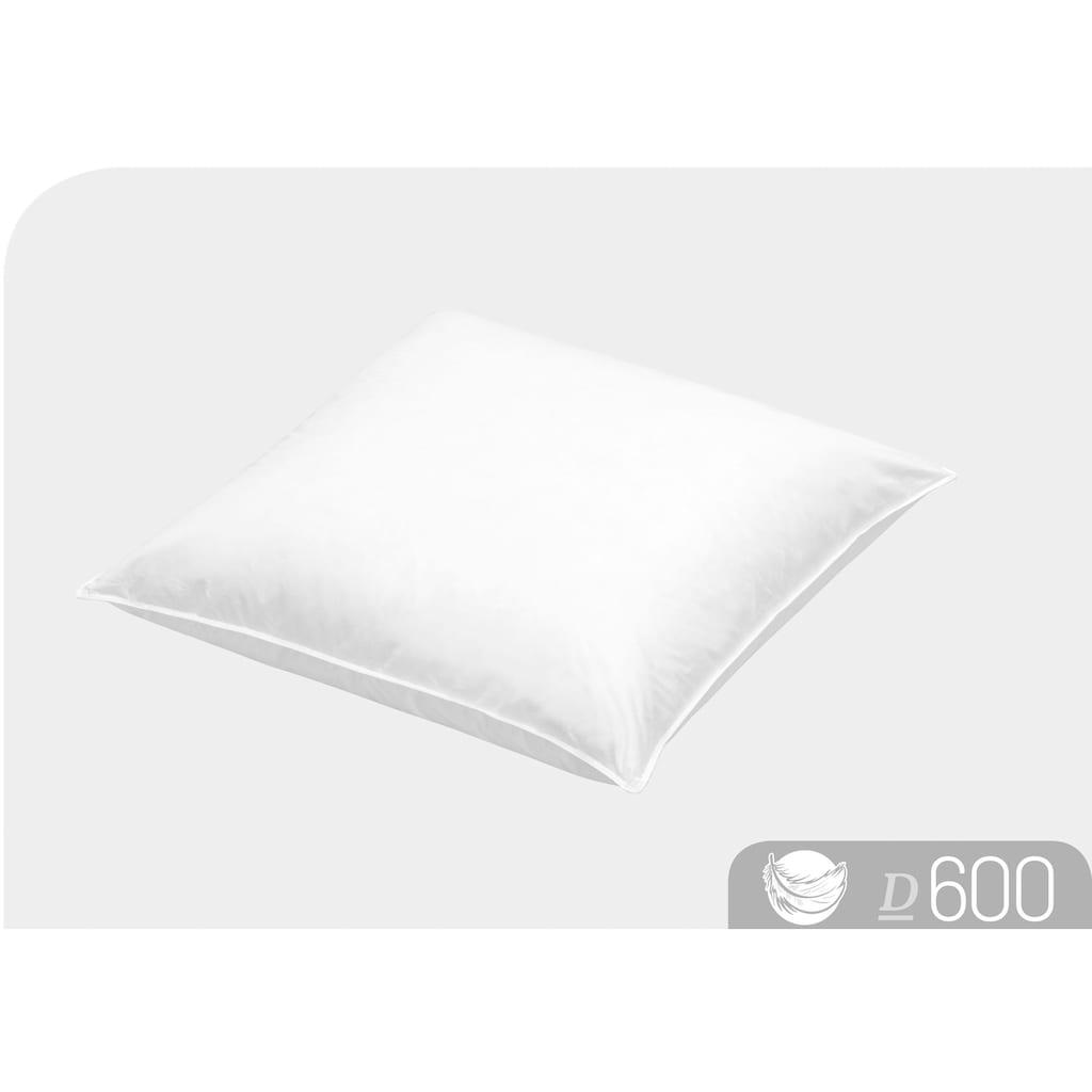 Schlafstil Daunenkissen »D600«, Füllung: 90% Daunen, 10% Federn, Bezug: 100% Baumwolle, (1 St.), hergestellt in Deutschland, allergikerfreundlich