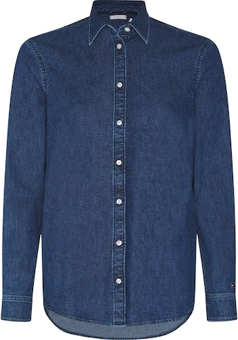 TOMMY HILFIGER Jeansbluse »RELAXED LS SHIRT MAO« kaufen