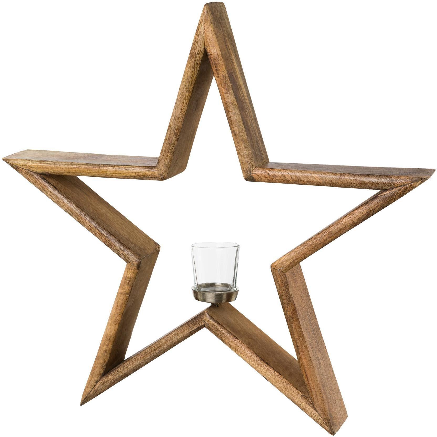 Kerzenhalter Stern (1 Stück) Wohnen/Accessoires & Leuchten/Wohnaccessoires/Kerzen & Laternen/Kerzenhalter