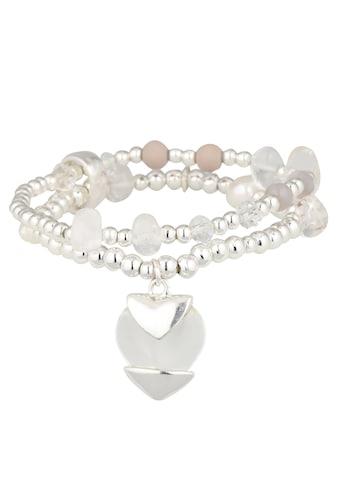 er piu Armband mit Perlenelementen und Herzanhänger kaufen