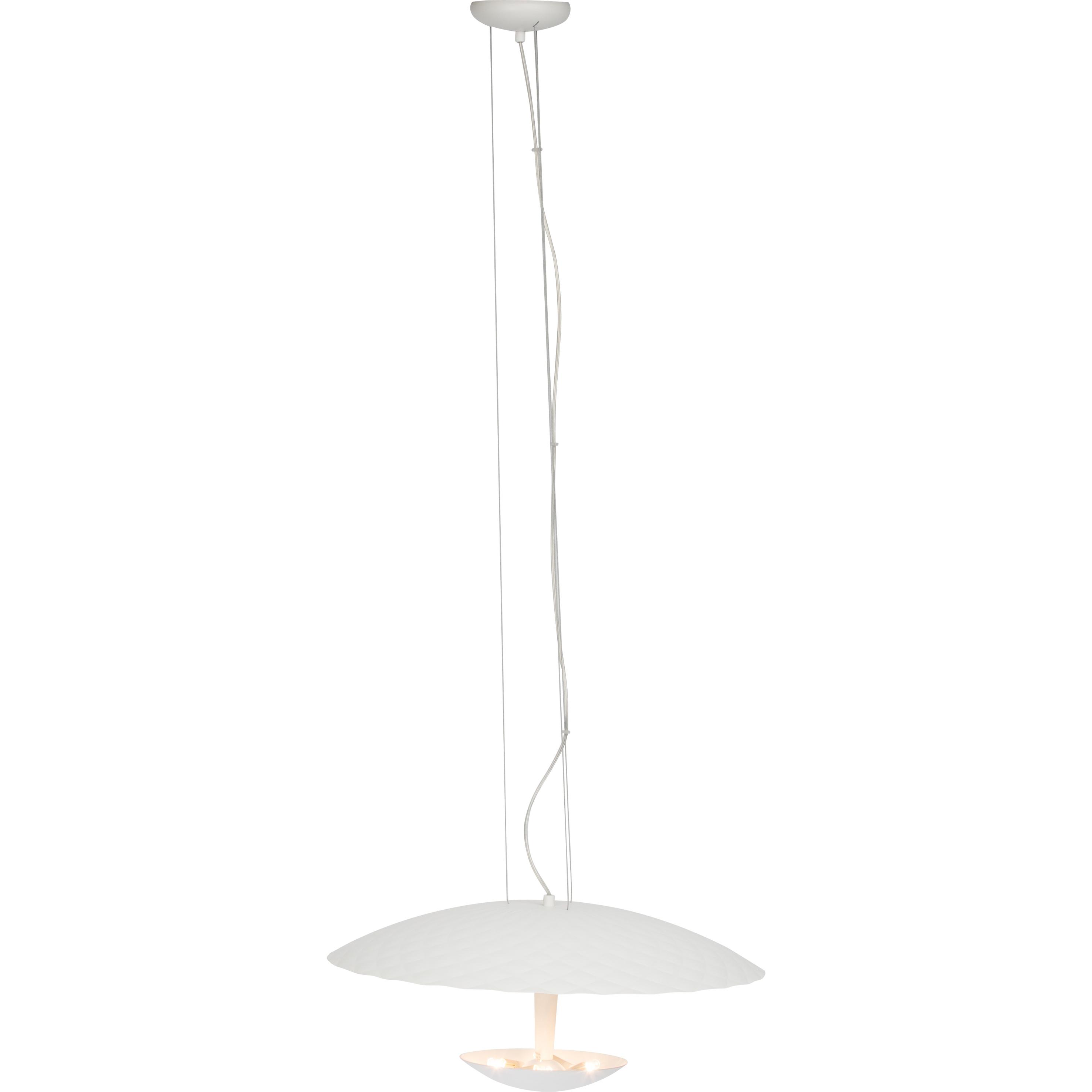Brilliant Leuchten Vulcano Pendelleuchte 55cm 4flg weiß matt
