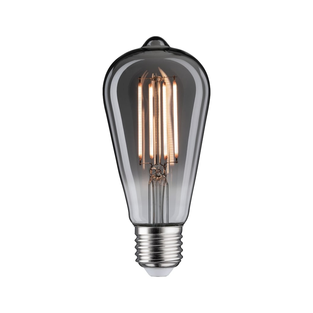Paulmann LED-Leuchtmittel »Vintage Speziallampen 7,5 Watt E27 Rauchglas Goldlicht dimmbar«, 1 St.