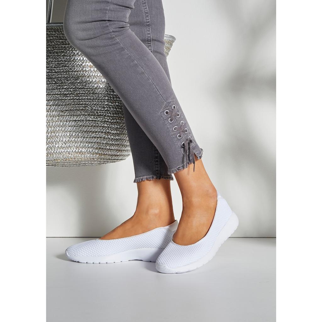 LASCANA Ballerina, Sneaker Slip-In in superleichter Mesh-Optik