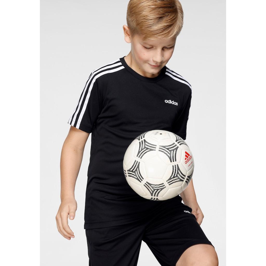 adidas Performance T-Shirt & Shorts »YOUTH BOYS TRAINING 3 STRIPES SET«
