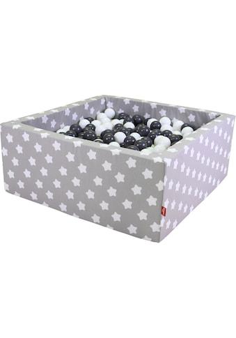 Knorrtoys® Bällebad »Soft, Grey white stars«, mit 100 Bällen grey/creme; Made in Europe kaufen
