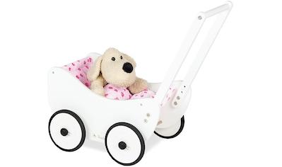 Pinolino® Puppenwagen »Trixi - Herzchen«, aus Holz mit Bettbezug, FSC®-Holz aus... kaufen